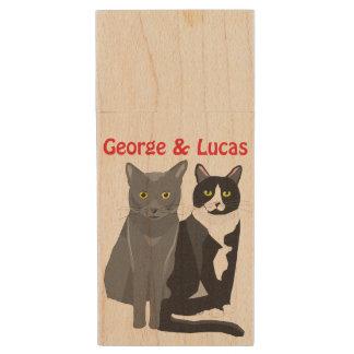 Palillo de madera de George y de Lucas USB Memoria USB De Madera