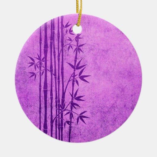 Palillos de bambú púrpuras envejecidos vintage con ornamentos de reyes magos