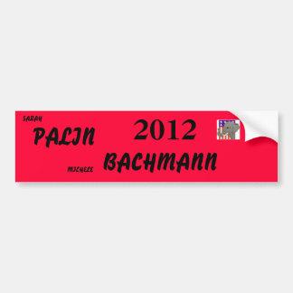 palin 2012 del bachmann etiqueta de parachoque