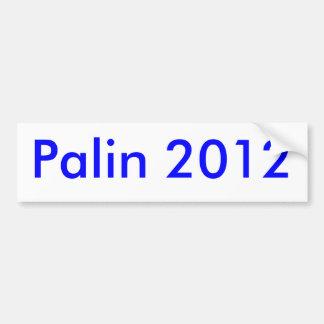 Palin 2012 pegatina de parachoque