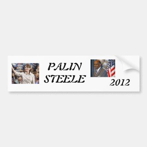 palin 2012, steele 1, 2012, PALINSTEELE Etiqueta De Parachoque