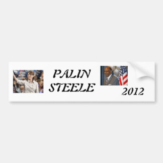 palin 2012, steele 1, 2012, PALINSTEELE Pegatina Para Coche