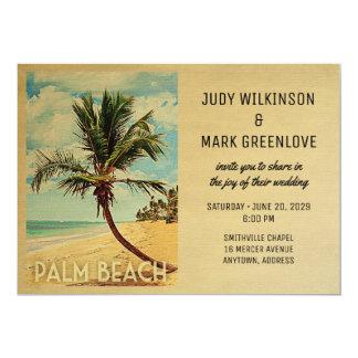 Palm Beach que casa la palmera de la playa de la Invitación 12,7 X 17,8 Cm