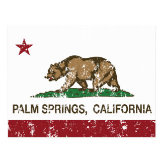 Palm Springs de la bandera del estado de Californi Tarjeta Postal