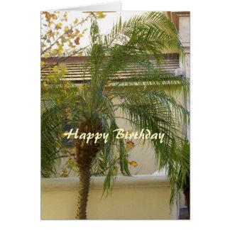 Palma cristiana de la tarjeta del feliz cumpleaños