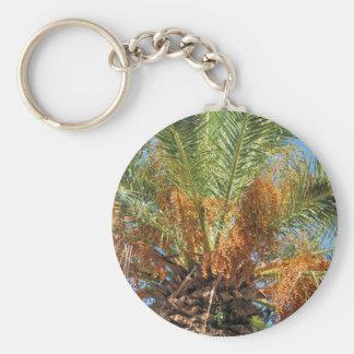 Palma datilera llavero redondo tipo chapa