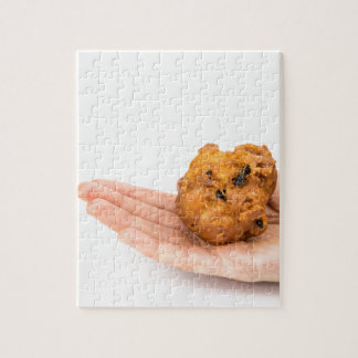 Palma de la mano que muestra el buñuelo o el puzzle