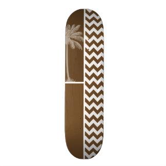 Palma del verano; Brown Chevron; zigzag Tabla De Skate