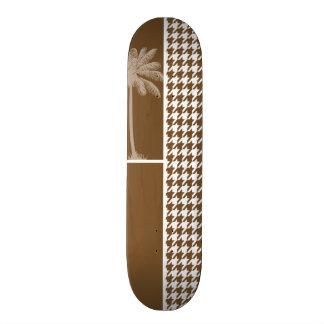 Palma del verano; Houndstooth marrón Tablas De Skate
