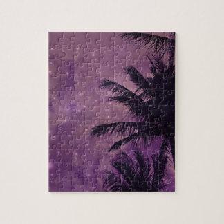 Palma púrpura del cielo puzzle