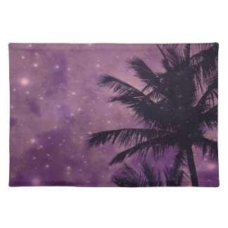 Palma púrpura del cielo salvamanteles