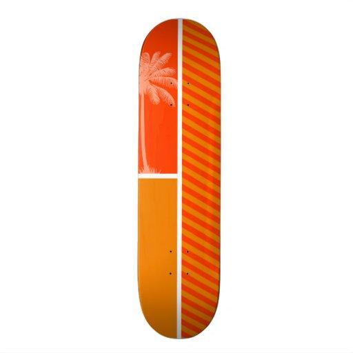 Palma tropical; Rayas anaranjadas Tabla De Patinar