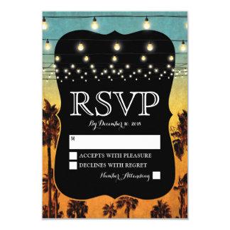 Palma tropical RSVP que se casa hawaiano de la Invitación 8,9 X 12,7 Cm