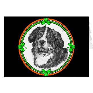 Palmaditas del St. del perro de montaña de Bernese Tarjeta De Felicitación