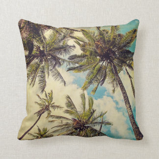 Palmas azules de Hawaii del vintage - almohada de
