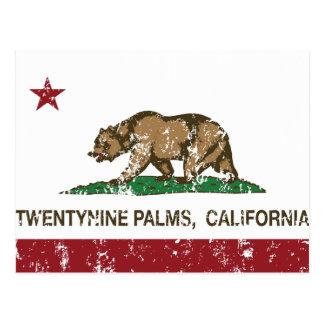 Palmas de la bandera veintinueve del estado de postal