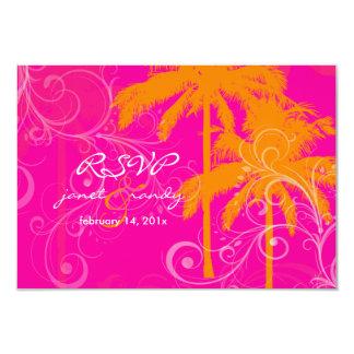 Palmas del gemelo del rsvp de PixDezines+color de Invitación 8,9 X 12,7 Cm