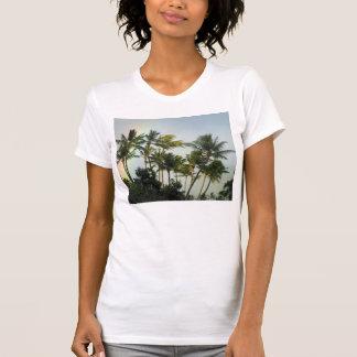 Palmas hawaianas camisetas