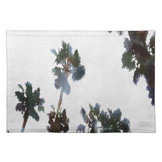 Palmas tropicales salvamanteles