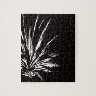Palmera blanco y negro adaptable puzzle