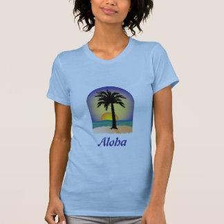 Palmera de la hawaiana camiseta
