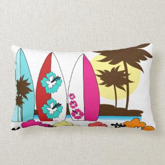 Palmera de las tablas hawaianas de la playa del cojín lumbar