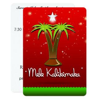 Palmera de Mele Kalikimaka para Navidad Invitación 12,7 X 17,8 Cm