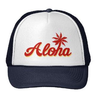 Palmera del vintage de Hawaii de la hawaiana Gorros Bordados