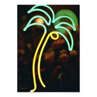 Palmera fluorescente en Seafair, Dania, la Invitación 12,7 X 17,8 Cm