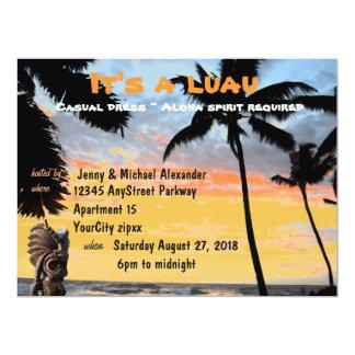 Palmera hawaiana Tiki de Luau Invitación 16,5 X 22,2 Cm