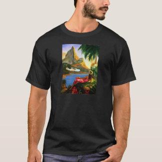 Palmera hawaiana tropical del avión de mar del camiseta