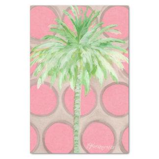 Palmera rosada bonita de los lunares del papel de