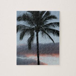 Palmera tropical del paraíso puzzle