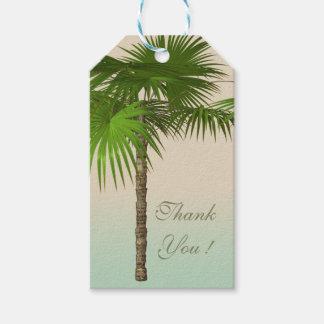 Palmera tropical romántica etiquetas para regalos