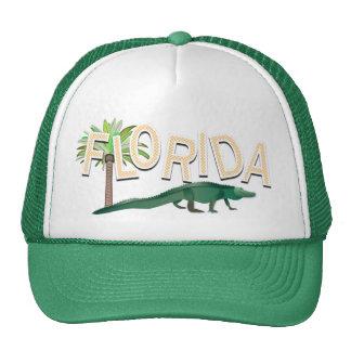 Palmera y cocodrilo de la Florida Gorro