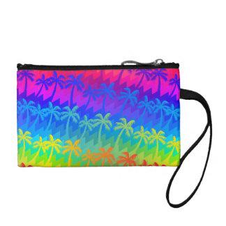 Palmeras del arco iris clutch tipo monedero