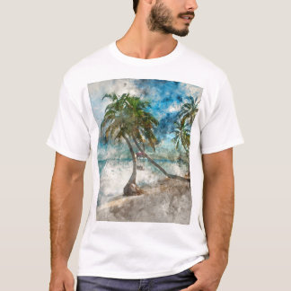 Palmeras en el Ambergris Caye Belice Camiseta