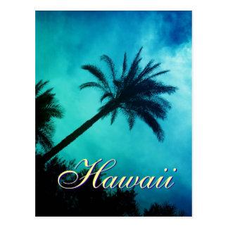 Palmeras hawaianas postal