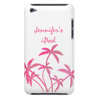 Palmeras rosadas del brillo iPod touch Case-Mate cobertura