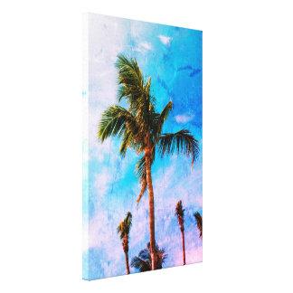 Palmeras tropicales del efecto abstracto lienzo