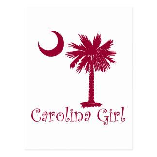 Palmetto del chica de Carolina del granate Postal