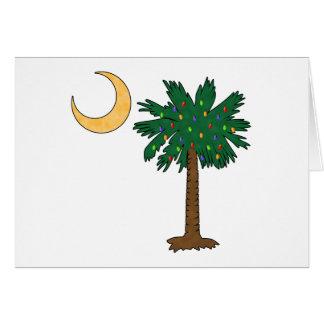 Palmetto del navidad tarjeta de felicitación