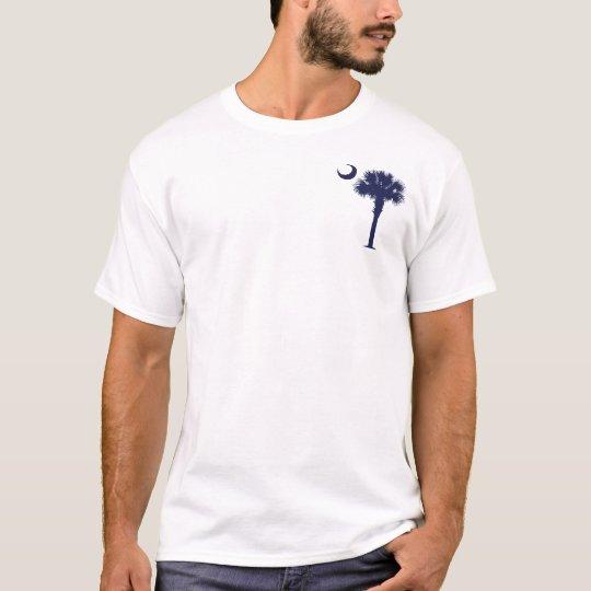 Palmetto y creciente (Charleston) del SC Camiseta