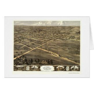 Palmyra, mapa panorámico del MES - 1869 Tarjeta De Felicitación