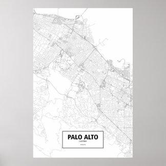 Palo Alto, California (negro en blanco) Póster