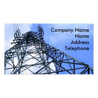 Palo de alto voltaje del poder tarjeta de negocio