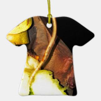 Palo de fruta 1 adorno de cerámica en forma de camiseta