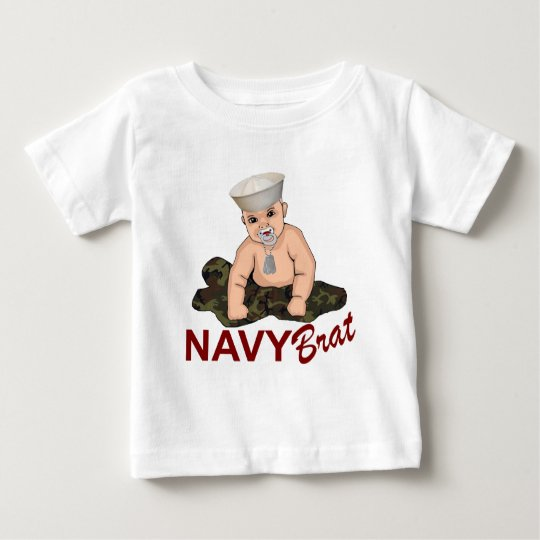 Palo de golf de la marina de guerra camiseta de bebé