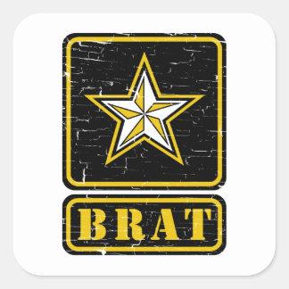 Palo de golf del ejército con la estrella pegatina cuadrada