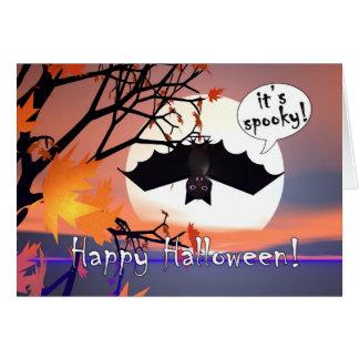 Palo de Halloween en árbol Felicitaciones